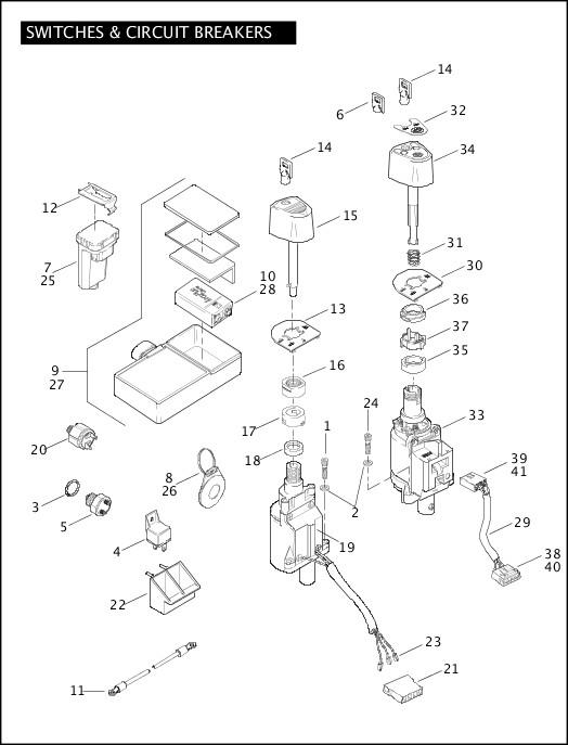 2005 FLHTCSE2 Parts Catalog|SWITCHES & CIRCUIT BREAKERS
