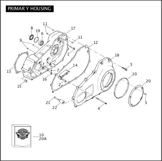 2009 FLHTCUSE4 Parts Catalog|PRIMARY HOUSING|Chester
