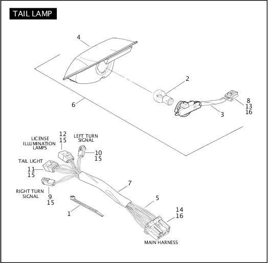 2004 FXSTDSE2 Parts Catalog|TAIL LAMP|Chester Harley-Davidson®