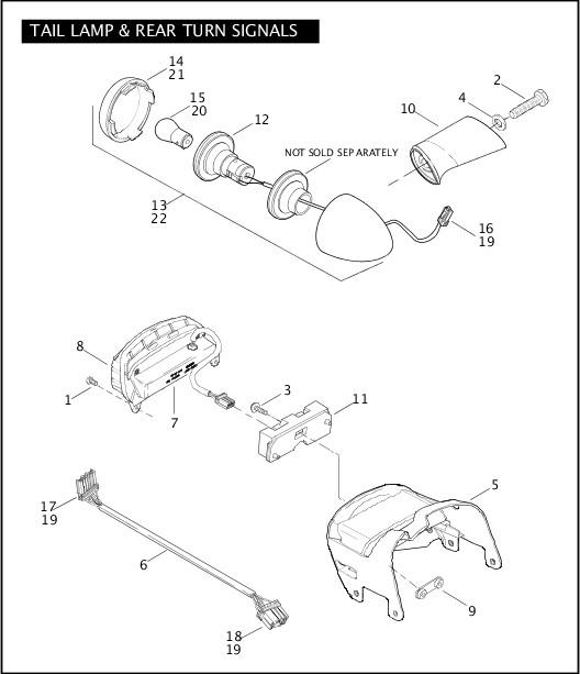 2009 FXDFSE Parts Catalog|TAIL LAMP & REAR TURN SIGNALS