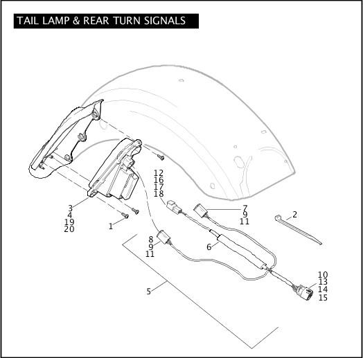 2010 FLHXSE Parts Catalog|TAIL LAMP & REAR TURN SIGNALS