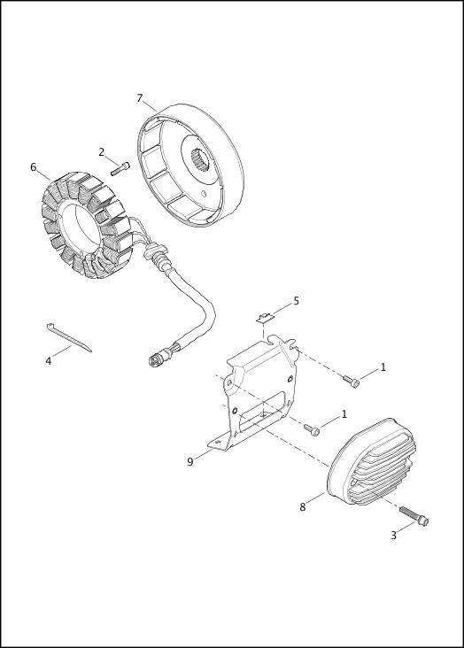 2014 FLSTNSE Parts Catalog|ALTERNATOR & REGULATOR|Chester