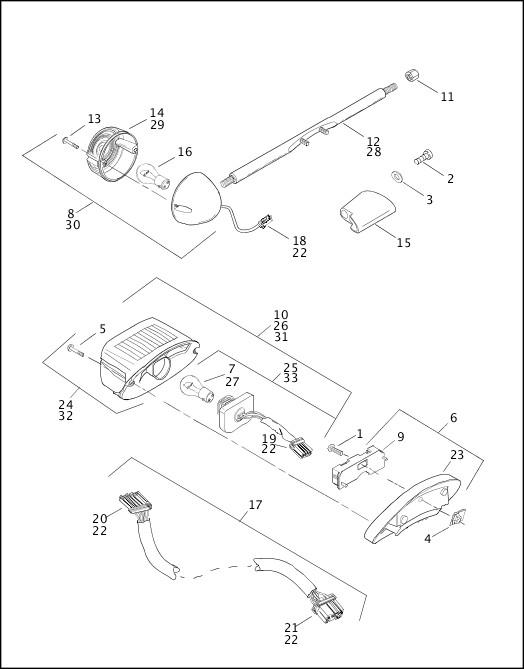 2000 Dyna Models Parts Catalog|TAIL LAMP & REAR TURN