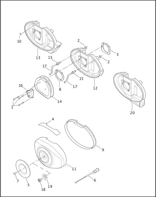 2003 Dyna Models Parts Catalog|AIR CLEANER & ENRICHENER