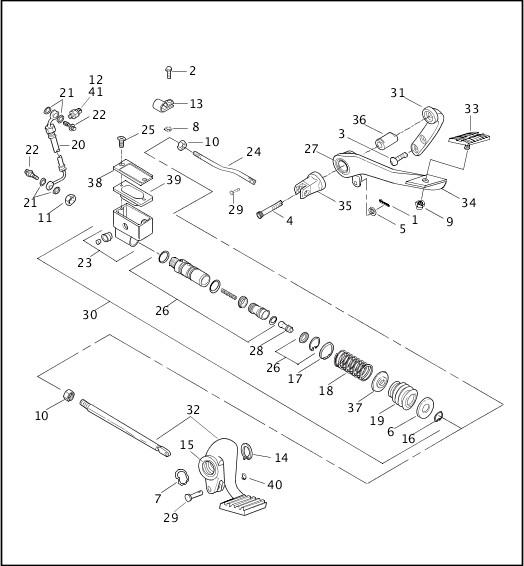 2003 Dyna Models Parts Catalog|REAR BRAKE CONTROL|Chester