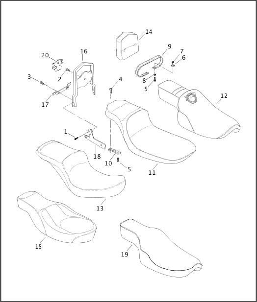 2003 Dyna Models Parts Catalog|SEATS & SISSY BAR|Chester