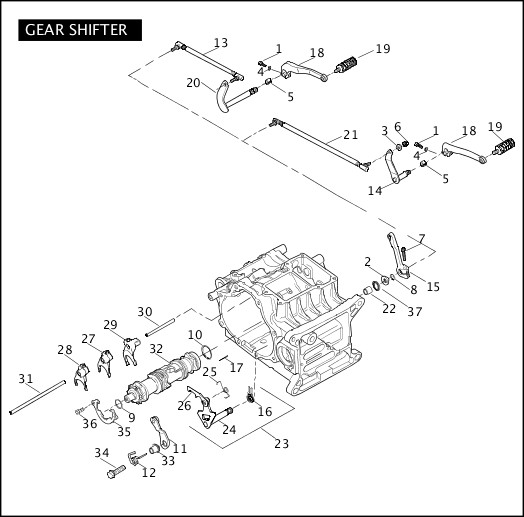2006 Dyna Models Parts Catalog|GEAR SHIFTER|Chester Harley