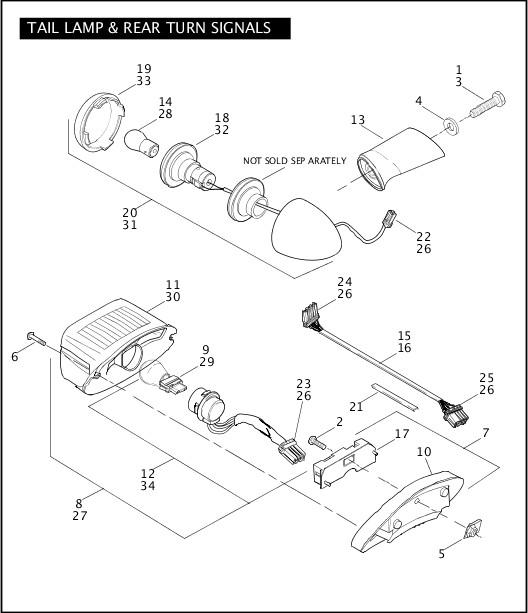 2006 Dyna Models Parts Catalog TAIL LAMP & REAR TURN