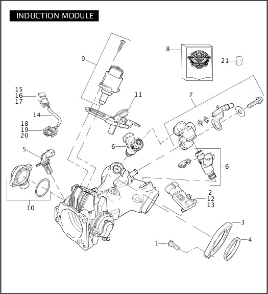2009 Dyna Models Parts Catalog|INDUCTION MODULE|Chester