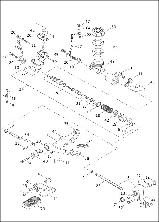 2014 Dyna Models Parts Catalog|BRAKE CONTROL, REAR (1 OF 2