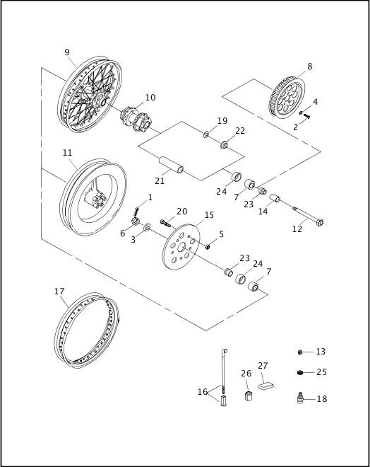1998 Dyna Models Parts Catalog|REAR WHEEL|Chester Harley