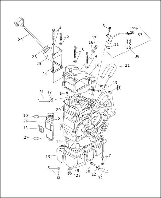 1997 Dyna Models Parts Catalog|TRANSMISSION HOUSING & OIL