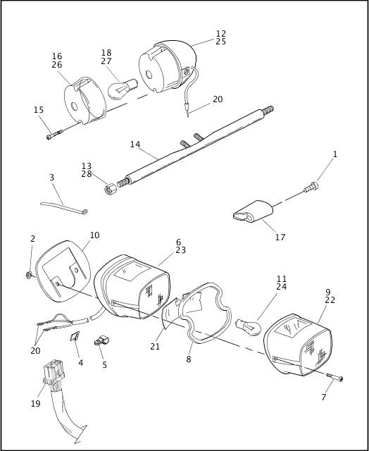 1998 Dyna Models Parts Catalog TAIL LAMP & REAR TURN
