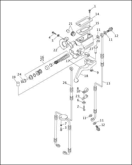 1995-1996 Dyna Models Parts Catalog|FRONT BRAKE CONTROL
