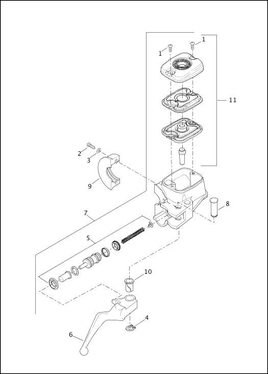 2016 Dyna Models Parts Catalog|BRAKE CONTROL, FRONT
