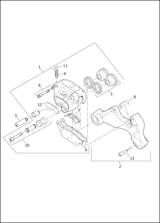 2016 Dyna Models Parts Catalog|BRAKE CALIPER, REAR|Chester