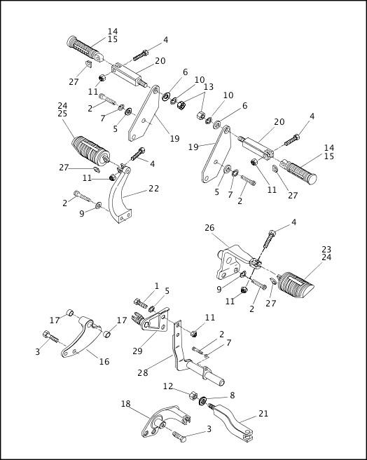 1995-1996 Dyna Models Parts Catalog|FOOTRESTS|Chester
