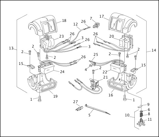 1995-1996 Dyna Models Parts Catalog|HANDLEBAR SWITCHES