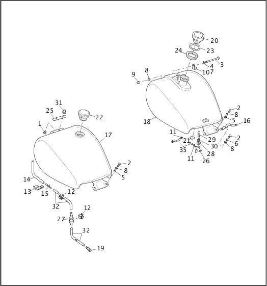 1993-1994 FXR Models Parts Catalog FUEL TANK (1 OF 2