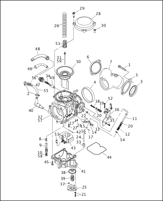 1999 Dyna Models Parts Catalog|CARBURETOR (1 OF 2)|Chester