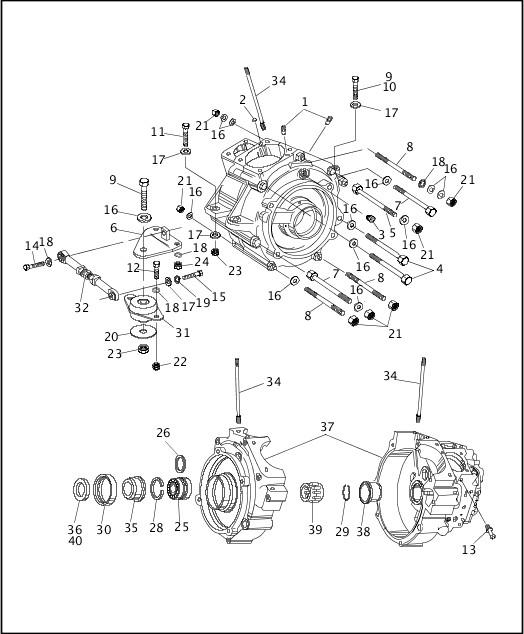 1991-1992 FXR Models Parts Catalog|CRANKCASE (2 OF 4