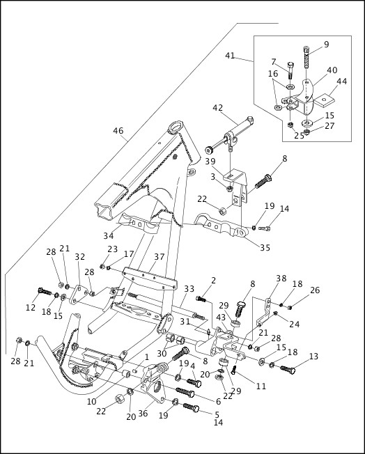 1991-1992 FXR Models Parts Catalog|SIDECAR CONNECTION KIT