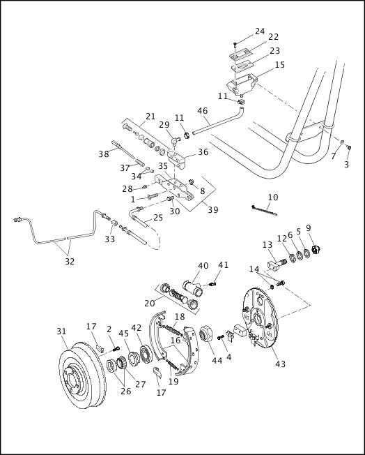 1991-1992 FXR Models Parts Catalog|SIDECAR BRAKE|Chester