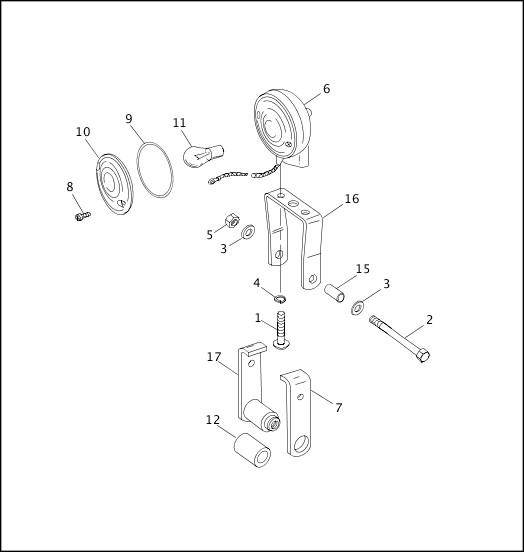 1991-1992 FXR Models Parts Catalog|SIDECAR TURN SIGNAL