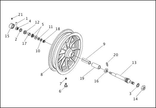 1991-1992 FXR Models Parts Catalog|SIDECAR WHEEL|Chester