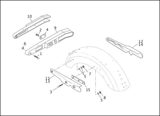 1991-1992 FXR Models Parts Catalog|REAR FENDER SUPPORTS