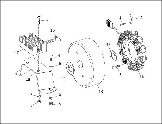 1991-1992 FXR Models Parts Catalog|ALTERNATOR & REGULATOR