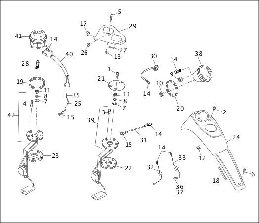 1991-1992 FXR Models Parts Catalog|FUEL TANK INSTRUMENTS