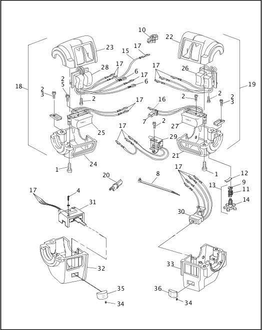 1991-1992 FXR Models Parts Catalog|HANDLEBAR SWITCHES (1