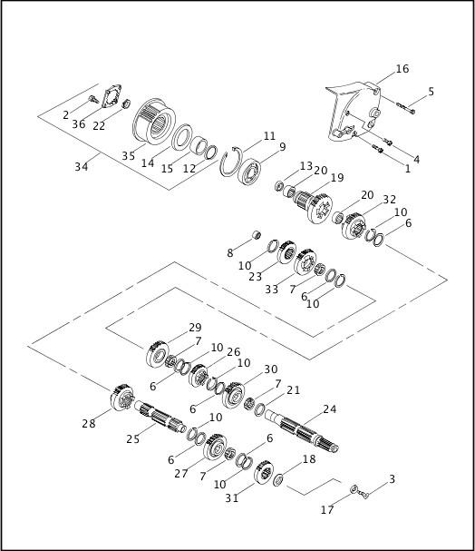 2002 Sportster Models Parts Catalog|TRANSMISSION GEARS
