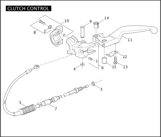 2009 Sportster Models Parts Catalog|CLUTCH CONTROL|Chester