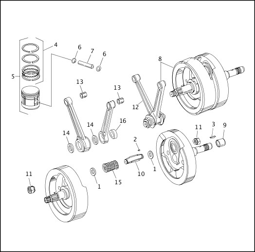 1993-1994 FXR Models Parts Catalog PISTONS, CONNECTING