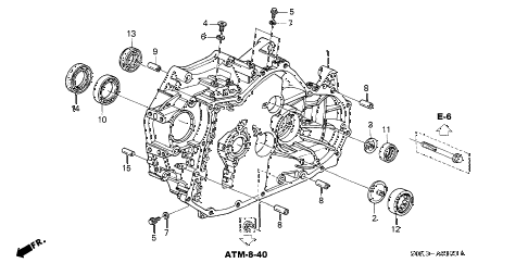 Acura online store : 1999 tl 4at torque converter housing
