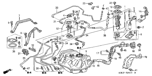Acura online store : 1999 tl fuel tank parts