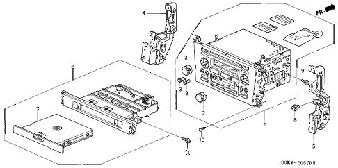 Acura online store : 2002 tl auto radio parts