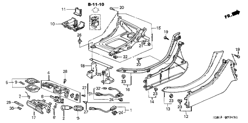 Acura online store : 2000 tl console parts