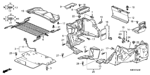 Acura online store : 2002 tl trunk lining parts