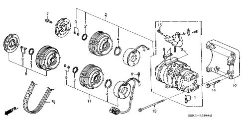 Acura online store : 1999 tl a/c compressor parts