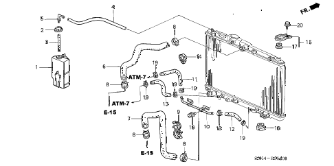 Acura online store : 1999 tl radiator hose parts
