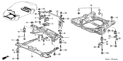 Acura online store : 1999 tl cross beam parts