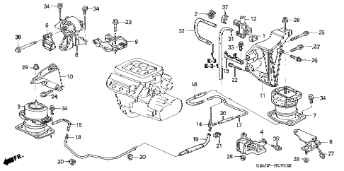 Acura online store : 2001 cl engine mount parts