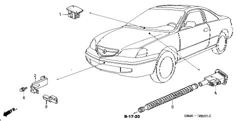 Acura online store : 2001 cl sensor parts