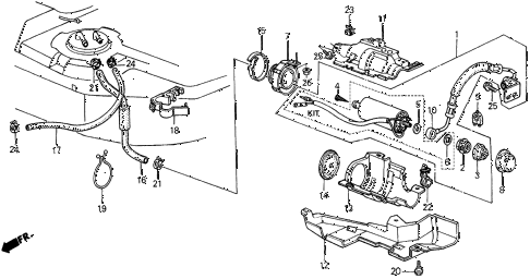 Acura online store : 1989 integra fuel pump parts