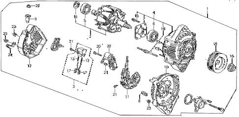 Acura online store : 1987 integra alternator (denso) parts