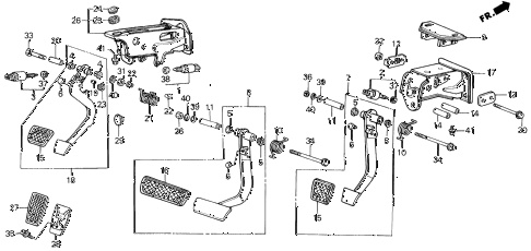 Acura online store : 1990 legend brake @ clutch pedal parts