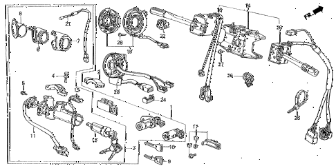 Acura online store : 1989 legend combination switch parts